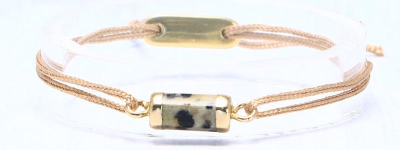Armband mit Edelsteinarmbandverbinder und Schiebeverschluss