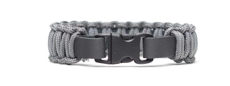 Armband mit Segelseil und Klick-Verschluss Grau
