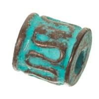 Patina Metallperle Röhre, 5 x 5 mm