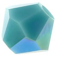 Preciosa Rondelle Bead/Bicone, 4 mm, turquoise AB