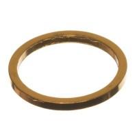 CM Metallanhänger Kreis, 10 x 1 mm, goldfarben