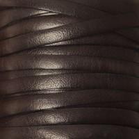 Breites Lederband, 5 mm x 1 mm, Länge 1 m, schwarz