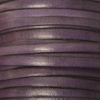 Breites Lederband, 5 mm x 1 mm, Länge 1 m, blau
