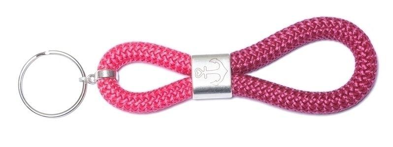 Schlüsselanhänger aus Segelseil Anker Pink