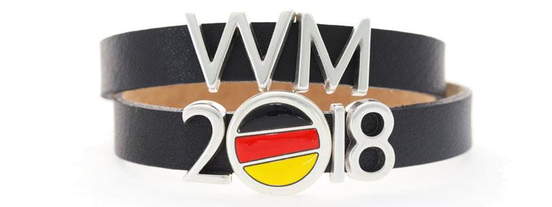 Fußballarmband mit Schiebeperlen für die WM