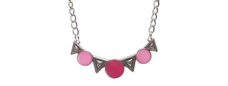 Kette mit Polaris Cabochons pink