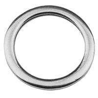 Metallanhänger Ring, versilbert, 39 mm