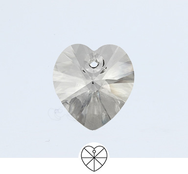 Preciosa 14 mm Heart Pendant