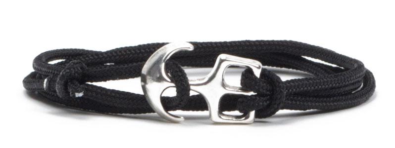 Wickel-Ankerarmband schwarz