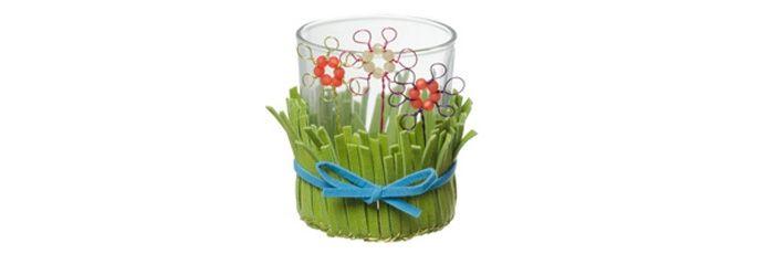 Windlicht Blumenwiese I