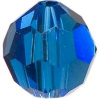 Swarovski Elements, rund, 6 mm, capri blue