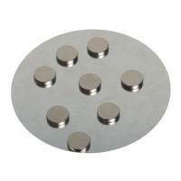 Magnete, rund, 10 x 2 mm, extra starker Halt, 8 Stück