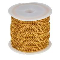 Kugelkette, Durchmesser 1,5 mm, Rolle mit 10 m, goldfarben
