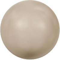 Swarovski Crystal Pearl, rund, 6 mm, platinum