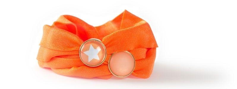 Lycra-Armband mit Sliderperlen Orange