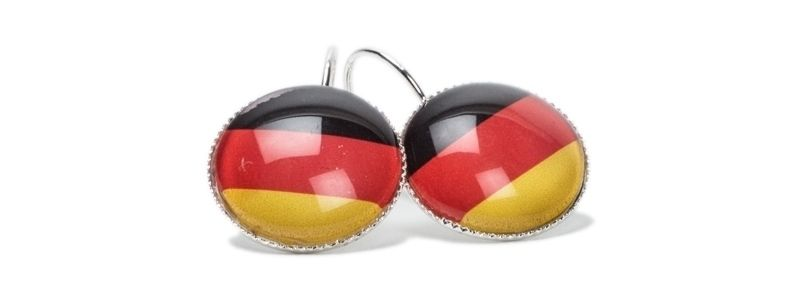 Schwarz-Rot-Gold Fußballohrringe