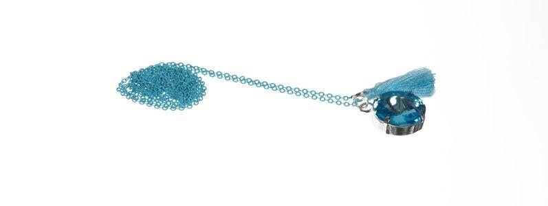 Boho-Kette Aquamarine