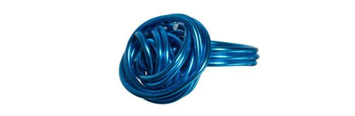 Knäul-Ring Blau