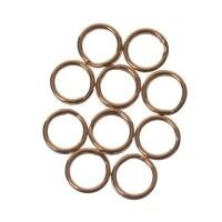 Spaltringe, Durchmesser ca. 7 mm, vergoldet, 10 Stück