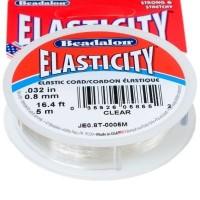 Beadalon Schmuckband elastisch, 0,8 mm, 5 m, Elasticity