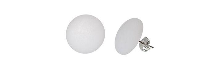 Ohrstecker Weiß klein