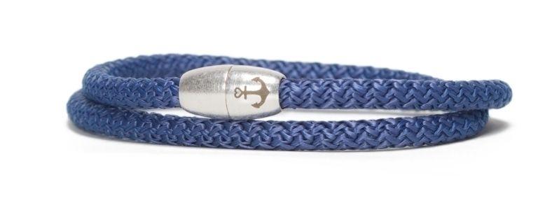 Armband mit Segelseil und Magnetverschluss dunkelblau