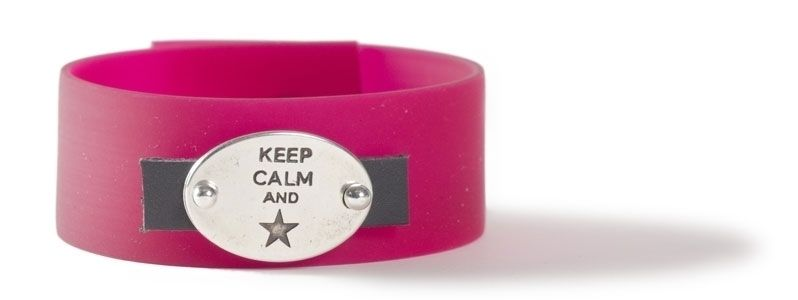 Doppelarmband mit Sliderperlen Keep Calm