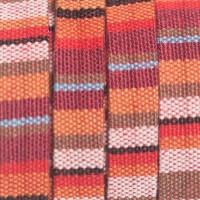 Ethno Schmuck Band flach, 10 x 1,8 mm , Länge 1 m, Erdtöne Mix