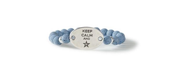 Polarisarmband Keep Calm and Star