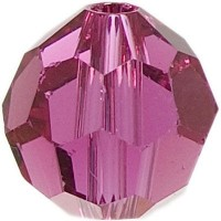 Swarovski Elements, rund, 6 mm, fuchsia