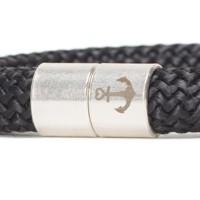 Magnetverschluss Anker für Bänder bis 10 mm, Röhre, 20 x 12 mm, versilbert