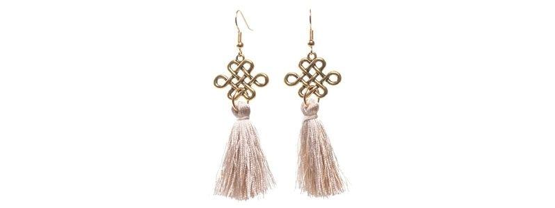 Ohrringe mit Yogaperlen Chinesischer Knoten