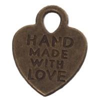CM Metallanhänger Handmade, 15 x 12 mm, bronzefarben