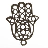 CM Metallanhänger Hamsa, 70 x 50 mm, bronzefarben