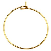 Edelstahl Creole, goldfarben, Durchmesser 25 mm, Pin: 0,7 mm