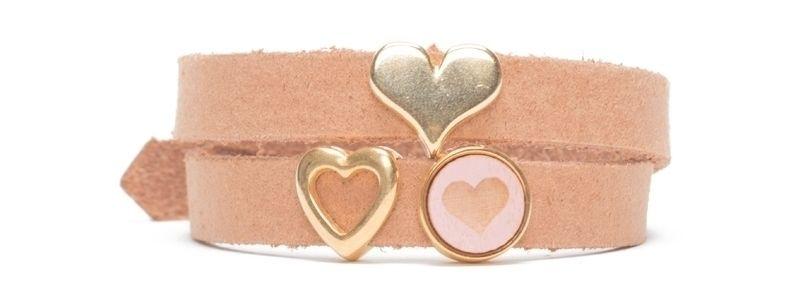 Craft Lederarmband für Slider Perlen Herz