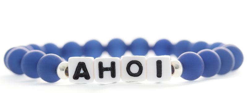 Armband mit Buchstabenwürfeln Ahoi