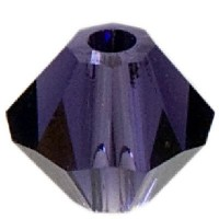 Swarovski Elements Bicone, 4 mm, purple velvet
