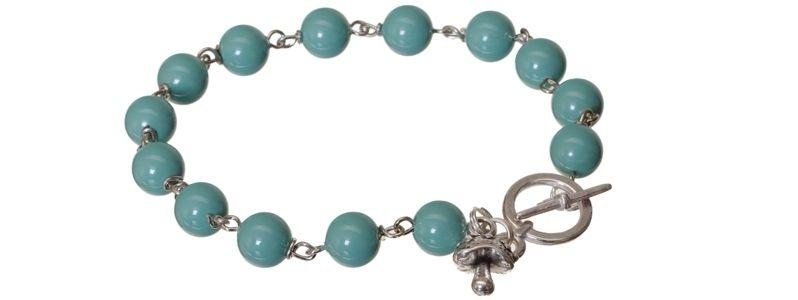 Armband mit Crystal Pearls Jade