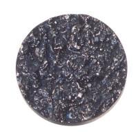 Polaris Goldstein Cabochon, rund, 12 mm, dunkelblau