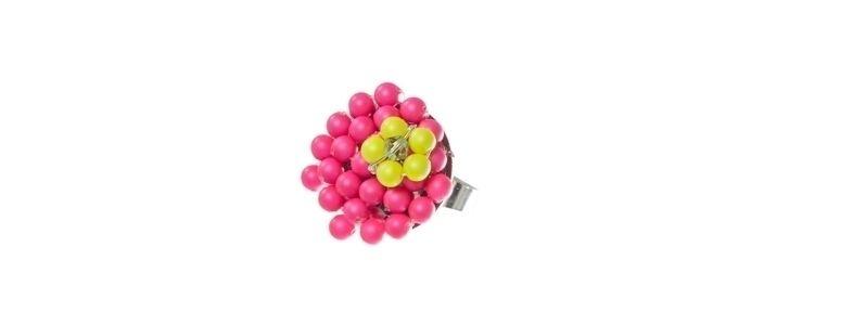 Blumenring Neon Pink