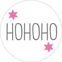 """Aufkleber """"HoHoHo"""", rund, Durchmesser 30 mm"""