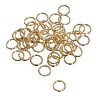 Binderinge, rund, 8 mm, gehärtet, goldfarben, 50 Stück