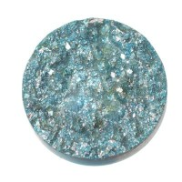 Polaris Goldstein Cabochon, rund, 12 mm, hellblau