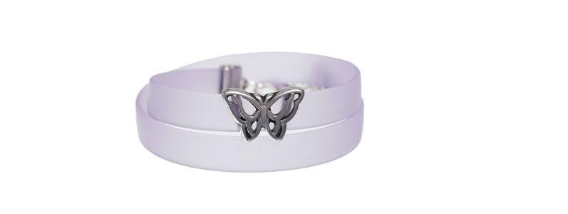PVC-Armband mit Schiebeperle Schmetterling