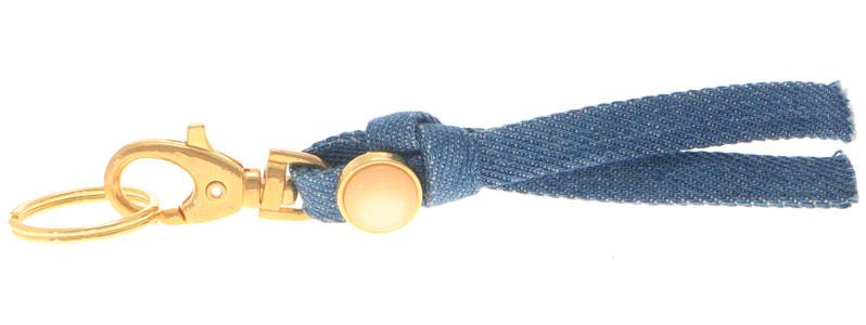 Schlüsselanhänger aus Jeansband Slider