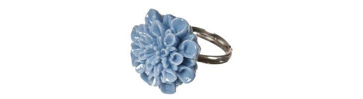 "Ring ""Blaue Dahlie"""