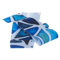 Lycra-Band, Breite 30 mm, Länge 1 m, dehnbar, triangel blau