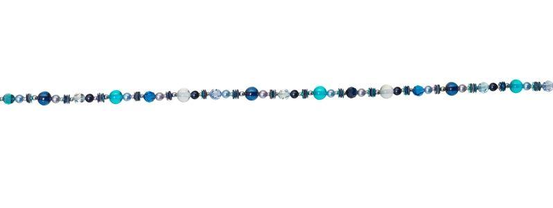 Pailletten-Kette Blau-Mix