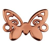 Armbandverbinder Schmetterling, 15 x 12 mm, rosevergoldet